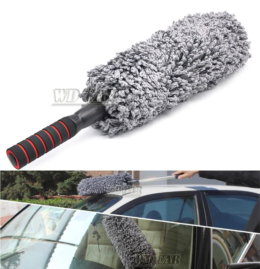 Aimee auto car Fiber retractable type wax brush drag mop duster car cleaning products for all cars Free Shipping(China (Mainland))