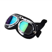 1Pcs Scooter Pilot Goggles Helmet Vintage Anti-UV Motorcycle Helmet glasses Motocross hot selling(China (Mainland))