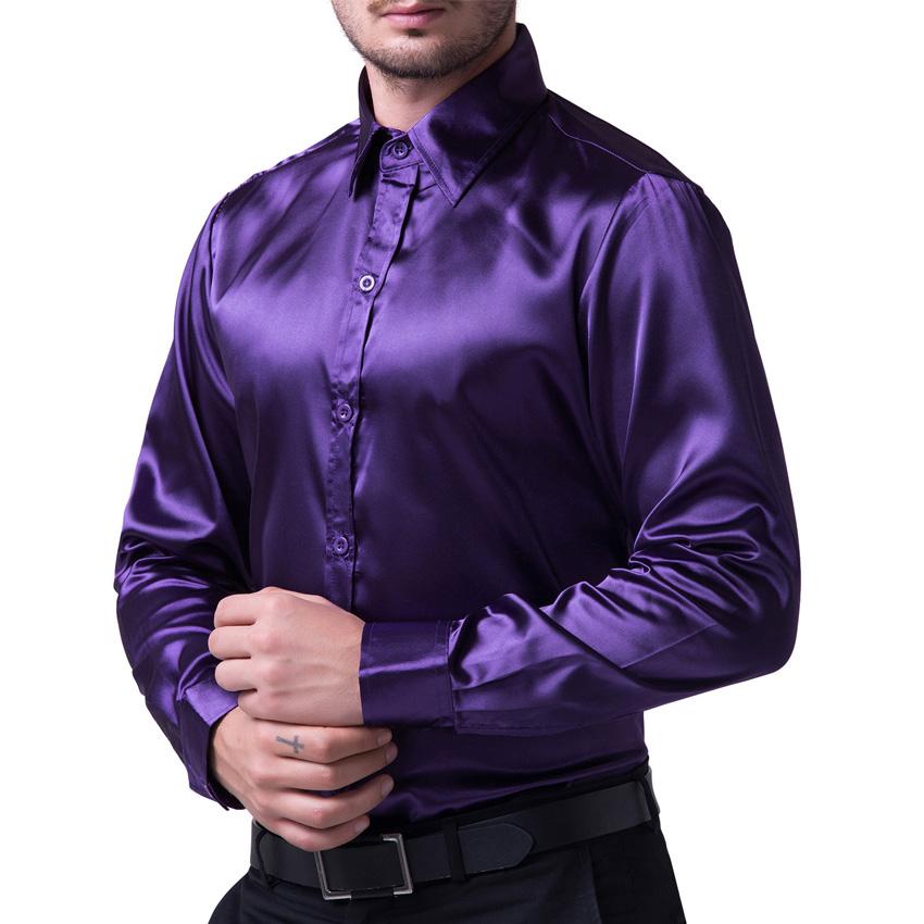 Turmec Long Sleeve Purple Dress Shirt