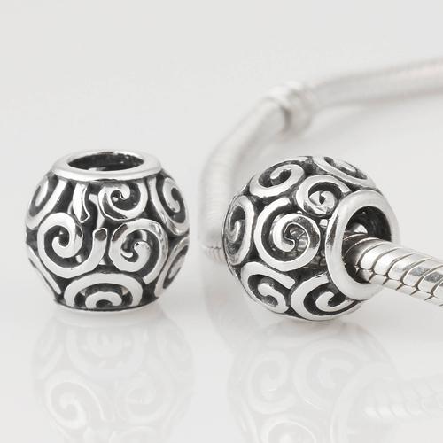 Аутентичные стерлингового серебра 925 каскадный бусины облако мяч европейский шарм женщины ювелирные изделия DIY подходит для пандора шарм браслет