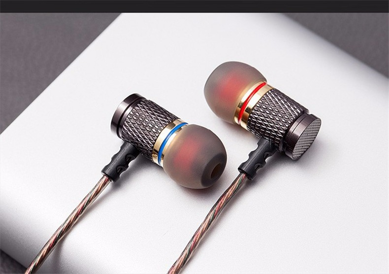 Original KZ ED 3.5mm In ear Gold Plated Noise Isolating HD HiFi Earphone Headphones super bass stereo headsets for Smart phone