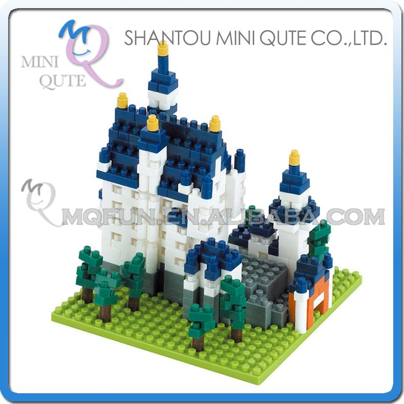 96pcs/lot Mini Qute X-BLOCK World architecture Swan Stone Castle Building plastic building block model educational toy NO.5974(China (Mainland))