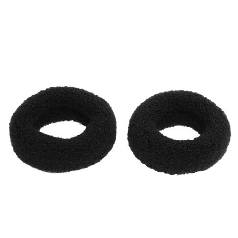 "New 2Pcs Black 1.8"" Wide Soft Elastic Plush Ponytail Holder Hair Tie Band Free Shipping(China (Mainland))"