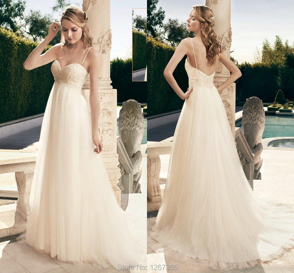 Charming wedding dress Casablanca Bridal gown court train