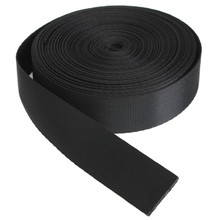 High Quality New Black 10 Yards Length /1 Inch 25mm Width Black Red Strap Nylon Webbing Strapping(China (Mainland))