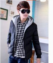 New Men Jacket Winter Short section Thick cotton padded jacket Down hooded overcoat Outwear jaqueta de inverno masculina S372(China (Mainland))