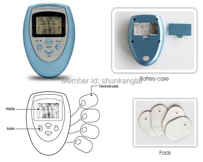 TENS UNIT/TENS EMS Slimming Massager/Electrical Nerve Muscle Stimulator/Digital physical therapy machine/Physiotherapy massager(China (Mainland))