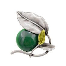 Cindy Xiang 2 Warna Pilih Resin Bead Daun Bros untuk Wanita Vintage Elegan Bros Pin Perhiasan Enamel Mantel Aksesoris Hadiah(China)
