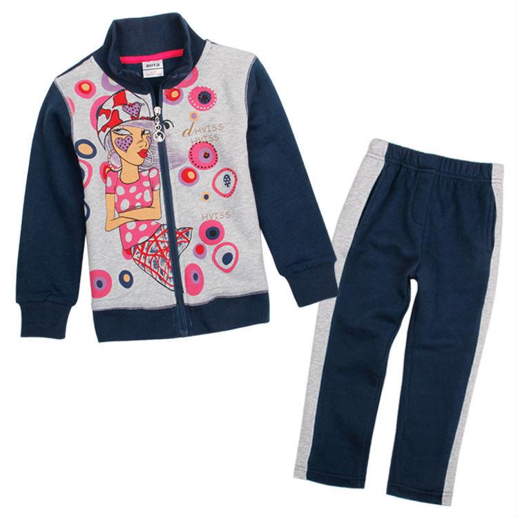 5pcs/lot children clothing sets for girls clothing sets Nova girls hoodies cotton long pants girls winter sweater clothing sets