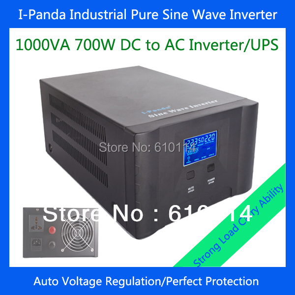 700w pure sine wave power inverter 12v 220v regulator voltage I-P-XD-1000VA 700w inverter charger UPS DC24V(China (Mainland))
