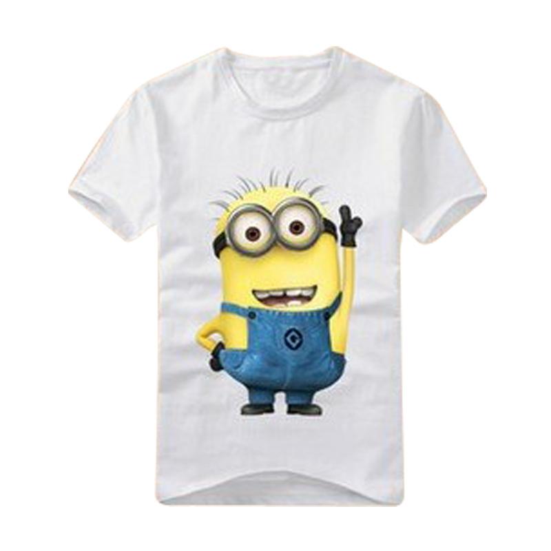 boys girls t-shirt cartoon anime figure despicable me minions clothes minion costume children's clothing t shirts kids wear(China (Mainland))