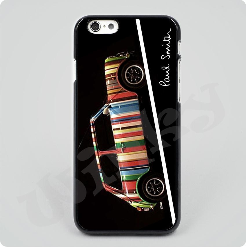 paul smith mini Black Hard Skin mobile phone Cases Cover housing For iPhone 4S 5 5C 6 6Plus Free shipping With gift(China (Mainland))