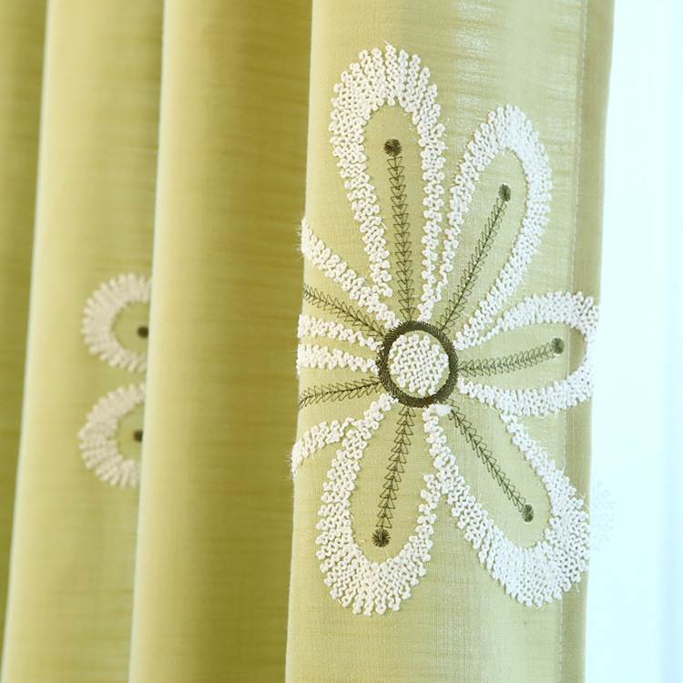 Cotton and Linen Cloth Art Special Customized Green Rural Ikea Sitting Room Bedroom Balcony Window(China (Mainland))