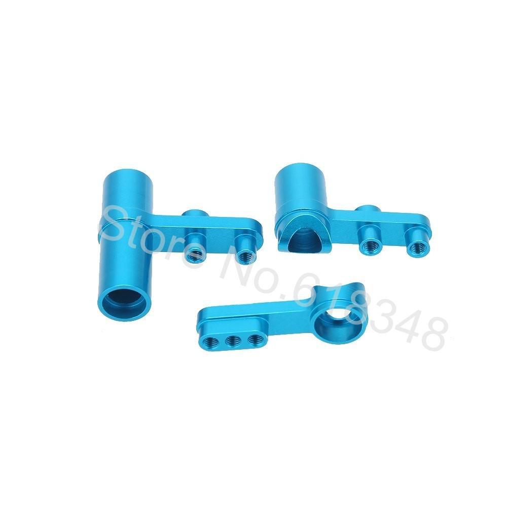 Baja HSP 122057 Aluminium Steering Servo Saver Complete Set 02025 & 02075 Upgrade Parts For 1/10 RC Car CNC Fit Redcat Himoto