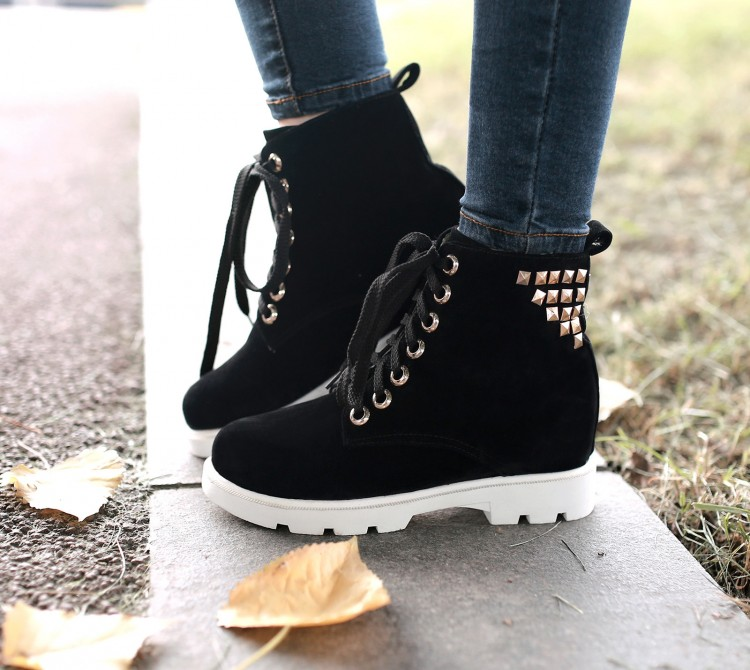 2015 autumn and winter boots platform lacing casual student shoes thermal boots elevator boots snow boots size 33--43<br><br>Aliexpress