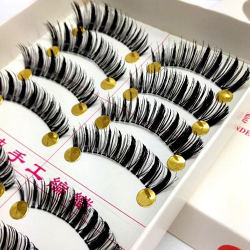 Free Shipping Top False Eyelashes Handmade Fake Eye Lashes Party Makeup Tools Thick Black Eyelash(China (Mainland))