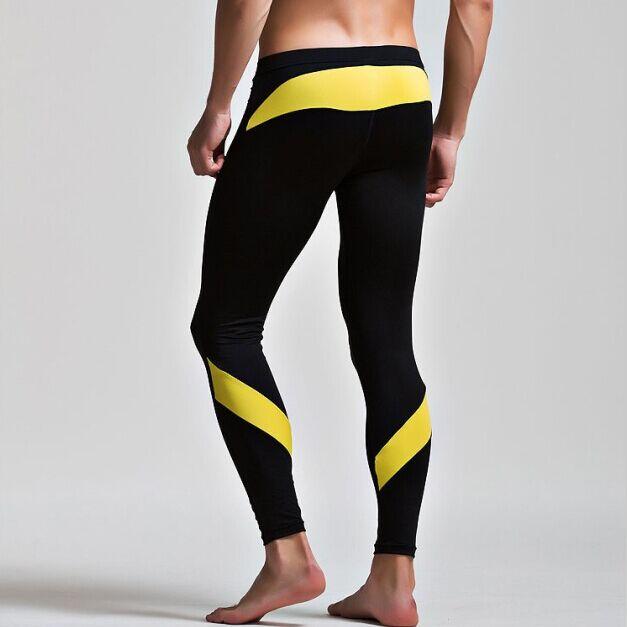 Winter Thin Fleece Thermal Underwear Men Long John Pants Warm Sexy Leggings Mens Spandex Tights Compression Sweat Pants Brand