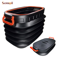 37L Car Styling Folding Tidying Bucket Storage box Collapsible Rear Auto Trunk Organizer Outdoor Camping Fishing Travel Trip(China (Mainland))