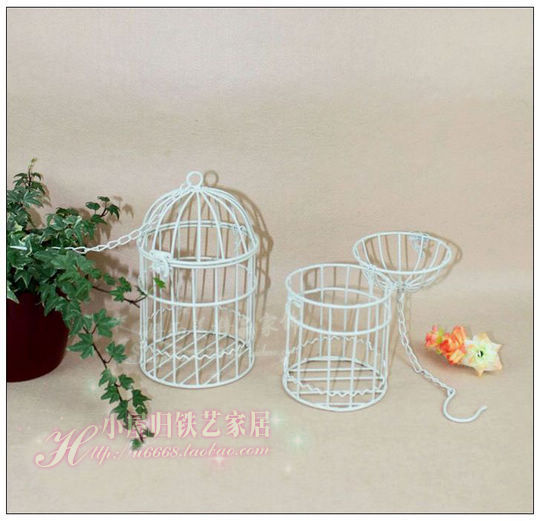 free shipping new products fashion iron birdcage hanging bird cage flower wedding decoration. Black Bedroom Furniture Sets. Home Design Ideas