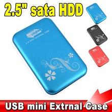 """Metal 2.5"""" 2.5 inch USB 3.0 HDD Cover Case Hard Drive Disk SATA External USB3.0 Storage HDD Enclosure  Aluminium Box(China (Mainland))"""