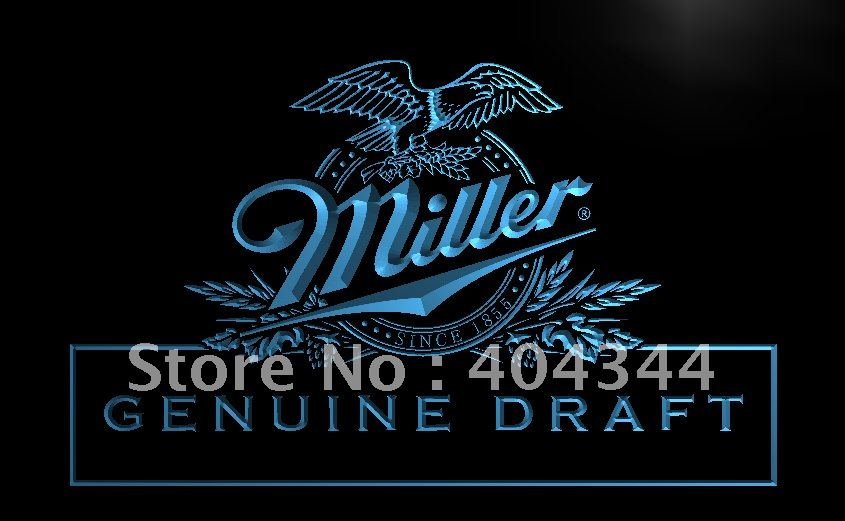 LE054- Miller beer Draft Bar Pub Club LED Neon Light Sign(China (Mainland))