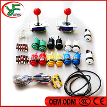 JAMMA Arcade mame DIY KIT FOR PC PS/3 2 in 1 USB to joystck interface USB /joystick/push button/Microswitch/L type feet for PCB(China (Mainland))