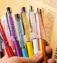 Crystal ballpoint pen roller ball pen, instead of fountain pen Pencil box and bag, brand gift stationery office school notebook(China (Mainland))