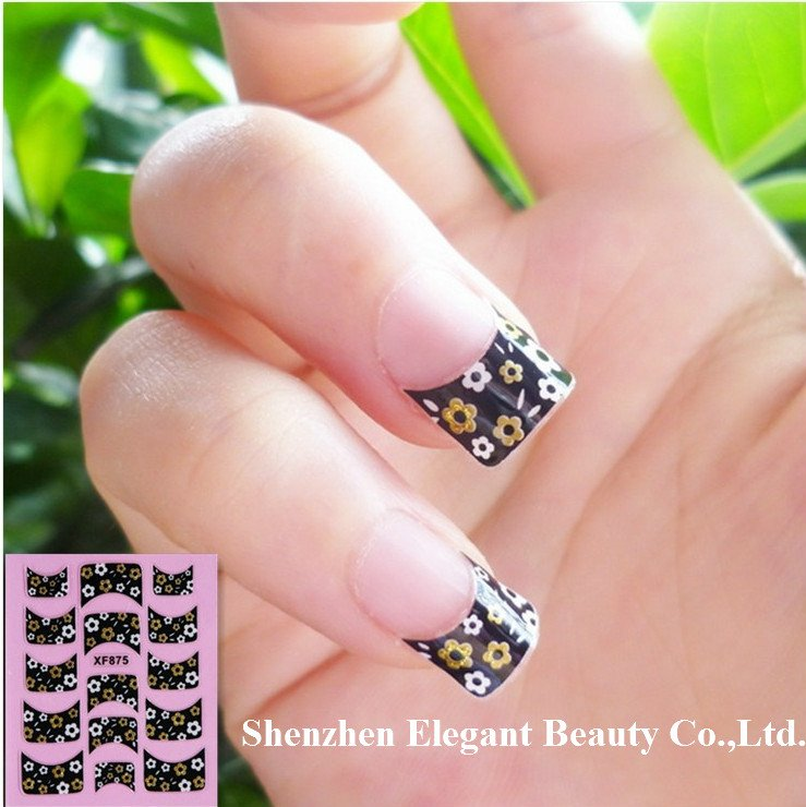 wholesale new arrival 4 designs trendy Nail Art seal French tip Seal 3D nail sticker 200pcs/lot free UPS/TNT/DHL/EMS shipping<br><br>Aliexpress