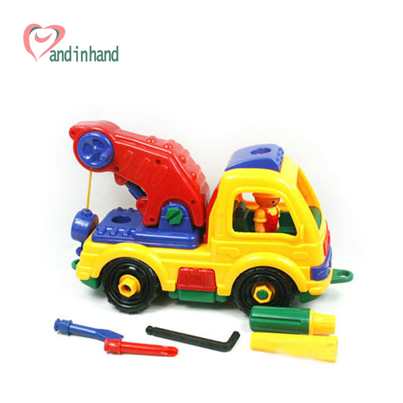 Baby Eudcational Toys Assembly Engineering Construction Vehicles Plastic Model Building Block Kits DIY Boy Children Brick(China (Mainland))
