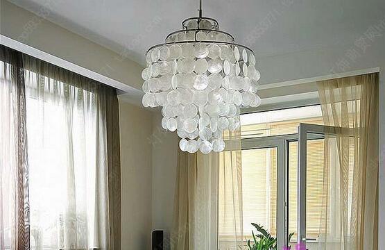 40cm Natural Shell pendant light  room Bar cristal lamp Fashion lighting fixture use E14 bulbs for home LL7-40<br><br>Aliexpress