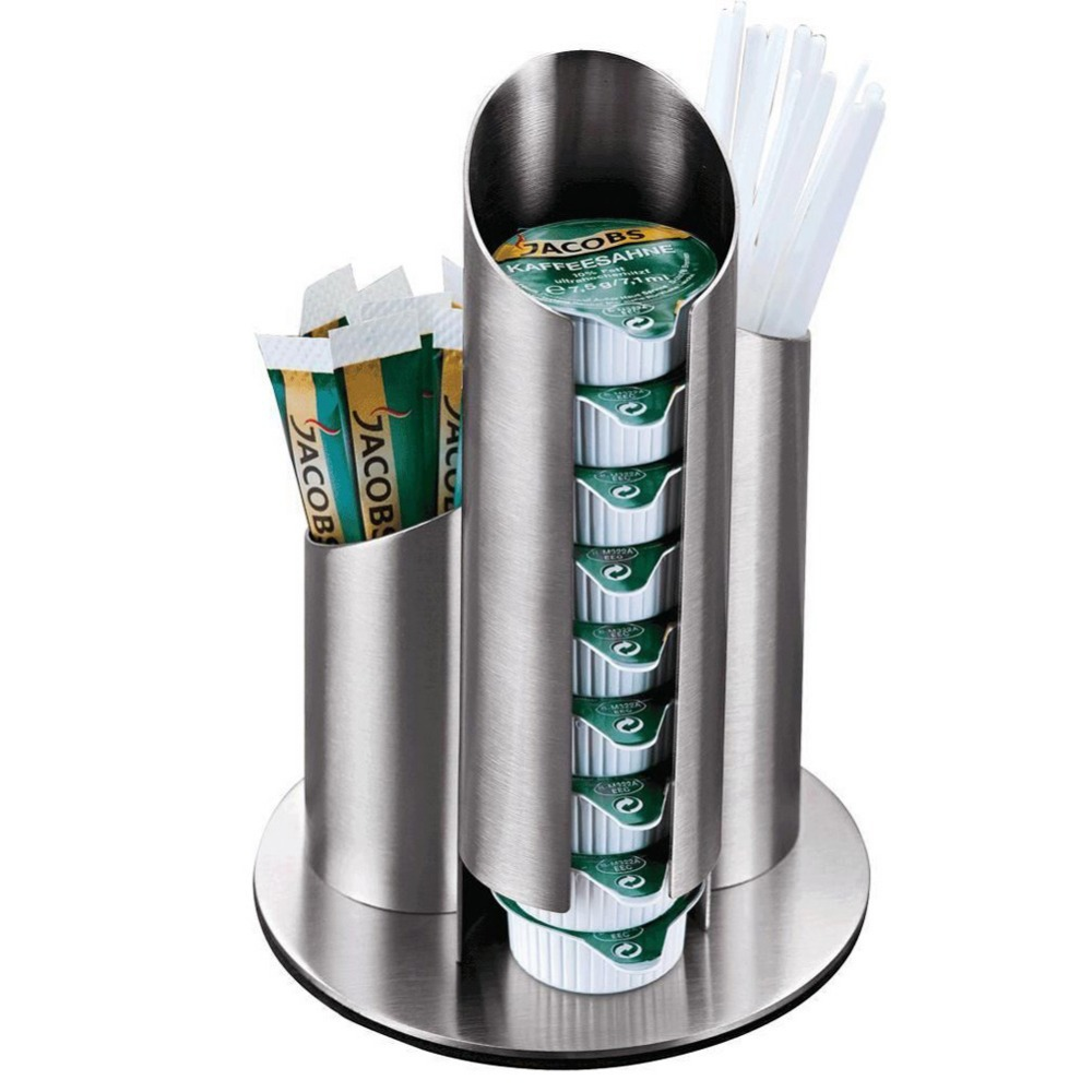 Multifuncational Stainless Steel Coffee Creamer Toothpick Container Holding Shelf Case Coffee Tea Shop Supplies NVIE(China (Mainland))