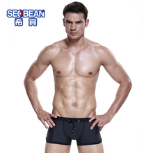 Seobean male swimming trunks low-waist sports cotton panties u trunk