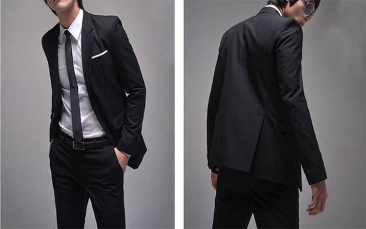 42-Free Shipping New 2015 man suit classic Fashion grooms man suits! Men's Blazer Business Slim Clothing Suit And Pants