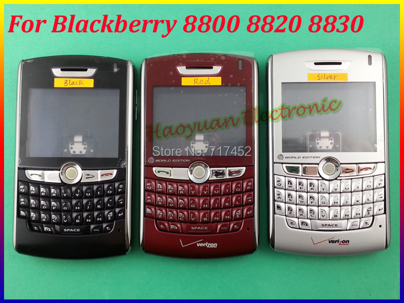 100% New Original Complete Full Housing Case Cover+Keyboard For Blackberry 8800 8820 8830 Free Shipping Black/Silver/Red(China (Mainland))