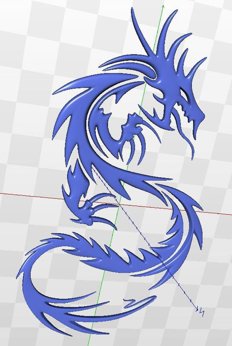 dragon_3 3d relief model for cnc in STL file(China (Mainland))