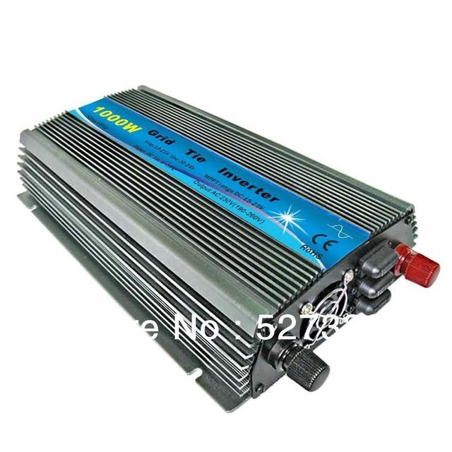 1000w New Grid Tie Inverter on grid System DC 12V/18V to AC 220V/110v+10% For Solar panel Pure Sine Wave MPPT Universal plug