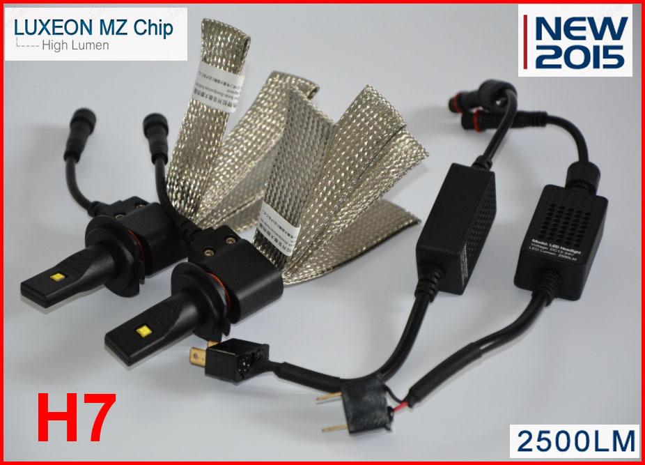 [해외]2015 새로운 40W 5000LM H7 크리어 / 필립 LED 헤드 라이트..