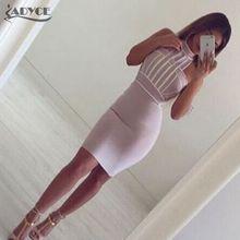 2015 new fashoin summer dress women elegant sexy bodycon  halter mini evening party beige black bandage Dresses wholesale(China (Mainland))
