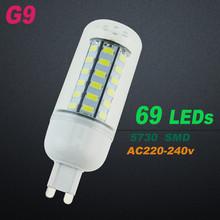 ECO CAT G9 Led lamp 220V Corn Light lampada 5733 Chip 24 36 48 69 72 Leds Bulb Brighter 5730 SMD christmas Lighting(China)
