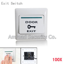 100x Exit Push Release Button Switch For Door Access Control Use Brand NEW 13070005(China (Mainland))