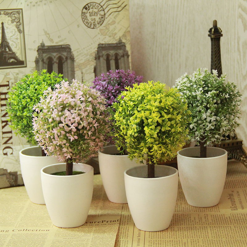 Online get cheap outdoor artificial topiaries aliexpress for Artificial plants for decoration