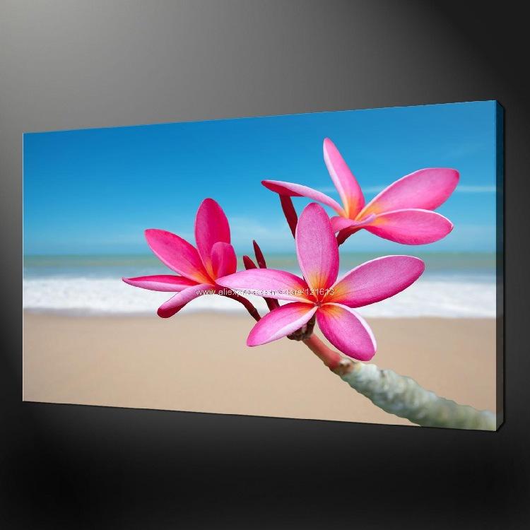 Flores tropicales lona imagen wall art pinturas al leo - Flores tropicales fotos ...