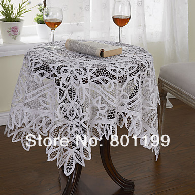 Outlet Clearance Battenburg lace Tablecloth table topper 125*125cm(50*50 inches)(China (Mainland))