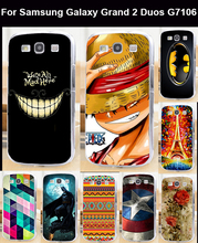 Окрашенные защитной мобильный телефон чехол твердый переплет кожа оболочка для Samsung Galaxy 2 дуэта G7100 G7102 G7105 G710S G7106