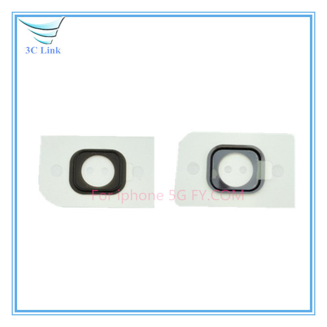 10pcs/lot Home Button Key Cap Holder sticker for iPhone 5 Free Shipping(China (Mainland))