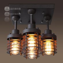 e designer of the lamp room Vintage American aisle lights balcony bedroom lamps restaurant industry circle ceiling lamps(China (Mainland))
