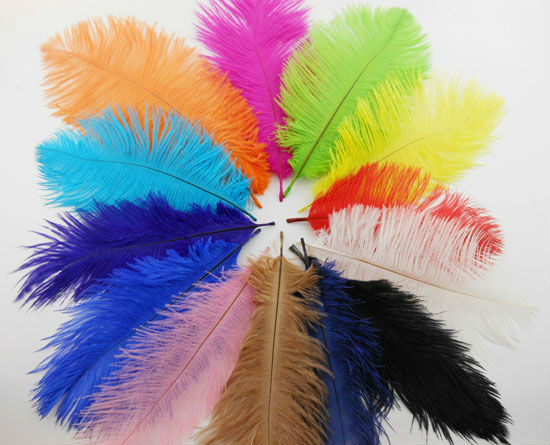 """Wholesale  120 pcs short 15-20cm 5.9-7.8"""" good quality Fluffy Ostrich plumes feather Feathers Centerpieces wedding IF3"""