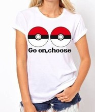 Pokemon GO Tee Shirts for Female Summer 2016