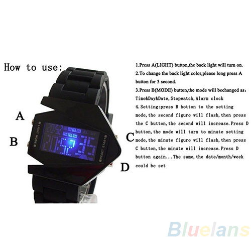 LED Display watches Digital men sports military Oversized watch Back Light women Wristwatches Novelty Sale 2A2U