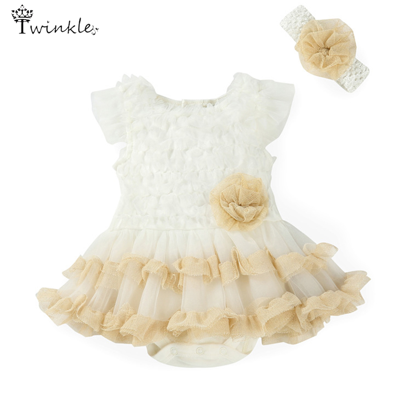 Baby girls dress 2015 Summer infant Lace dress kids Flower princess Wedding Dresses Baby Girl Toddler Gowns Child birthday dress(China (Mainland))